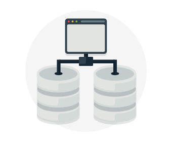 A web server and two databases